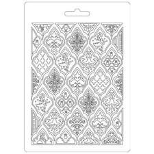 Soft Mould-STAMPERIA-flexible Gießform-A5-Hintergrund-Ornament-K3PTA521