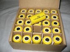 25x NiCD Sub-C 2200mAh Batteries Flat Top for power tools