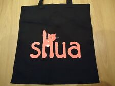 "SHUA LOGO Premium Cotton Natural Shopping Shoulder Tote Bag - Brand New 15""x16"""
