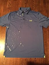 UNDER ARMOUR  ENERGY GRAPHIC STRIPE POLO SHIRT SIZE Large