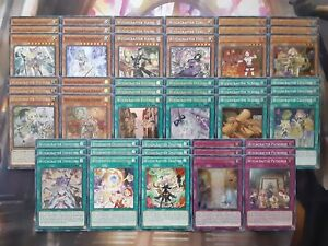 Yugioh Tournament Ready To Play Witchcrafter 51 Card Deck Madame Verre Haine NM