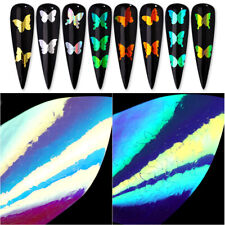 3D Nail Stickers Laser Butterfly Series Hollow Nail Art Decals Tips Decorations