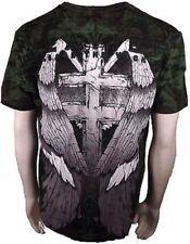 Xzavier Release The Wicked Gravestone Skull Wings Cross Adult Mens T Shirt 2Xl