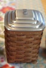 Longaberger Canister / Storage Basket Set Complete - Rich Brown - New - Pretty!