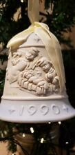 Jefferson Mint Limited Edition Porcelain Jasperware Christmas Bell Ornament 1990