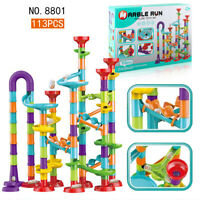 Large Marble Run Race Set Construction Building Blocks Kids Toy Game Xmas Gift