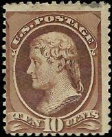 VEGAS - 1881-82 USA Sc# 209 10c - MH, OG - No Hidden Flaws - Small Thin- EF55