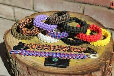 environ 249.48 kg TYPE III Paracord Survie Corde Bracelet Made in USA 550 LB Neon Cotton Candy