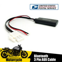 1x Motorcycle 3-PIN Audio Bluetooth Aux Cable Adapter for Honda Goldwing GL1800