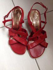 Chaussures femme Sandales cuir Pediconfort rouge 36
