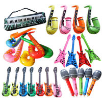 PVC INFLATABLE GUITAR MICROPHONE LUTE MUSICAL INSTRUMENT TOY PARTY PROPS ORNATE