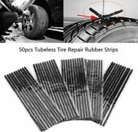 50x Tubeless Tire Tyre Puncture Repair Kit Strips Plug Car cycling Bicycle HGUfa