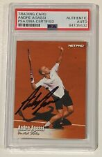 Andre Agassi 2003 NetPro Autographed Tennis Card PSA DNA Signed Auto