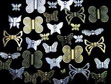 30g x Perles Papillon Mixte Aléatoire tibetan silver golden bronze bijoux Z117