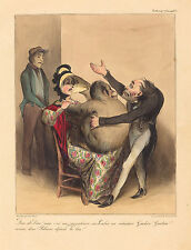 "Honore Daumier Reproductions: "" Oh my God! He is n-naughty.."" - Fine Art Print"