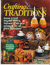 CRAFTING TRADITIONS MAGAZINE Sept 1996 - 40 Projects Fall Halloween Christmas