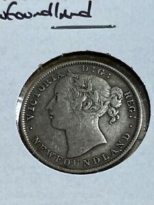 1885 Newfoundland 20 Cents Silver Coin!! Low Mintage!!