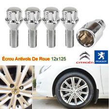 16 Chrome Roue Écrou Boulons Pour Peugeot 206 avec véritable Alliages