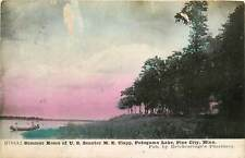 Minnesota, MN, Pine City, Clapp Home, Pokegama Lake 1908 Postcard