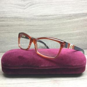 Gucci GG3542 3542 Eyeglasses Transparent Orange 5FG Authentic 52mm