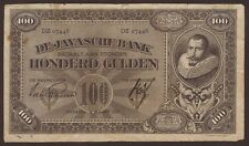 Ndl. Indien / Netherlands Indies 100 Gulden 1927 Pick 73a (5) VG