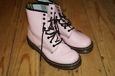 DR MARTENS - Baby Light Pink Patent Leather Airwair Lace-up Ankle Boots Uk 6