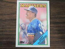 1988 Topps # 156 Gary Matthews Autographed / Signed Card (C) Seattle Mariners
