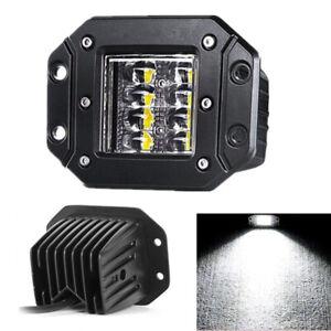 1x 48W LED Truck Bumper Flush Mount Spot Flood Driving Work Light for Jeep SUV