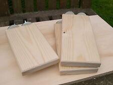 "Pack of 4 - 6"" & 8"" Deep Solid Pine Finger Shelves Chinchilla / Degu/Rats"