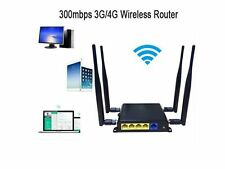OpenWRT 300Mbps Wireless Router 3G/4G LTE Sim Card Wifi Router 4*5 dBi Antenna