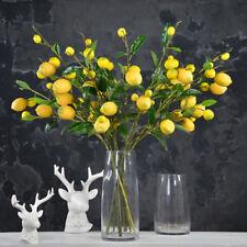 New Artificial Lemon Branch Stem Lemon Fruit Plants Fake Home Garden Decoration