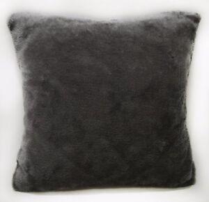 Fg28a Plain Gray Soft Faux Fur Cushion Cover/Pillow Case*Custom Size*