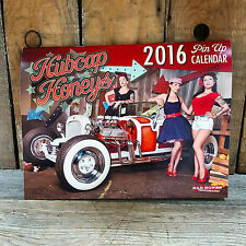 CLEARANCE! 2016 PINUP CALENDAR RAT HOT ROD CUSTOM VTG STYLE CARS OLD SCHOOL BOMB