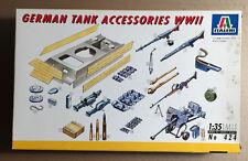 ITALERI 424 - GERMAN TANK ACCESSORIES WWII - 1/35 PLASTIC KIT NUOVO