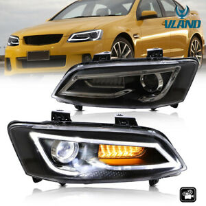 VLAND LED Projector Replacement Headlights For Holden VE 2006-2013 Dual Beam