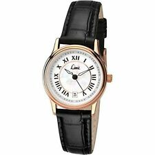 Limit Women's Quartz Watch With White Dial Analogue Display and Black Polyuretha