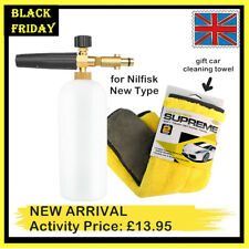 1L Snow Foam Lance for Car Washer Nilfisk New Type Gerni Stihle & Cleaning Towel