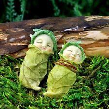 Miniature Fairy Cabbage Babies set 2 Assorted  /Dollhouse Gnome  Garden GO 17285
