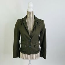 Anthropologie Hei Hei Delaine Equestrian Utility Green Houndstooth Riding Jacket