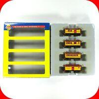 N Scale ATSF SANTA FE OVERTON Passenger Car 4-Pack Set ATHEARN 11021 Knuckle Cpl