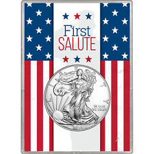 2018 Silver American Eagle BU in Silver Dollar First Salute Gift Holder