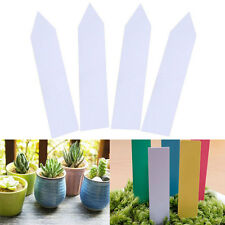 100PCS 4'' Garden Plant Pot Markers Plastic Stake Tags Nursery Seed Labels Tags