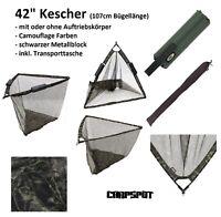 XXL Karpfenkescher CAMOU Großfisch Unterfang Kescher floating Metallblock