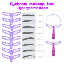 8 Pairs Eyebrow Grooming Stencil Kit Template Makeup Shaping Shaper DIY Tool Hot