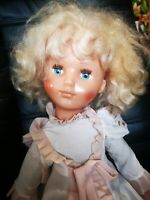 Rare Doll 1970s USSR Vintage soviet Russian plastic Toy 30 inch Collectible Doll