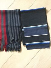 DKNY Men's 100% Wool Scarf Gray Blue New