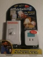 Handy Switch Billy Mays Wireless Light Switch As Seen On TV With Night Light New