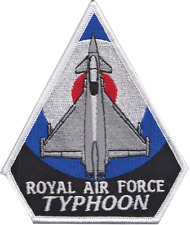 Royal Air Force RAF Eurofighter Typhoon Over A Roundel Embroidered Patch
