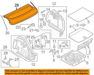 AUDI OEM 16-18 A3 Sportback e-tron Interior-Rear-Cover 8V4867769BRY9