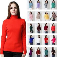 Turtle Neck Wool Sweater CCC Winter Jumper Cashmere Top Long Sleeved Ladies Size